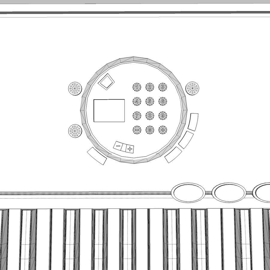 Keyboard: Yamaha PSR-180 royalty-free 3d model - Preview no. 21