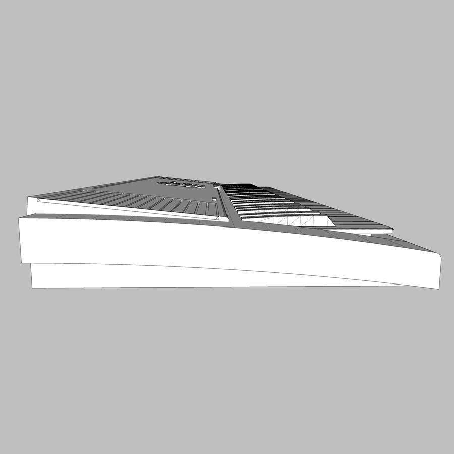 Keyboard: Yamaha PSR-180 royalty-free 3d model - Preview no. 18