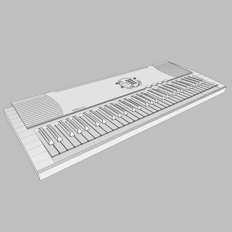 Keyboard: Yamaha PSR-180 royalty-free 3d model - Preview no. 15