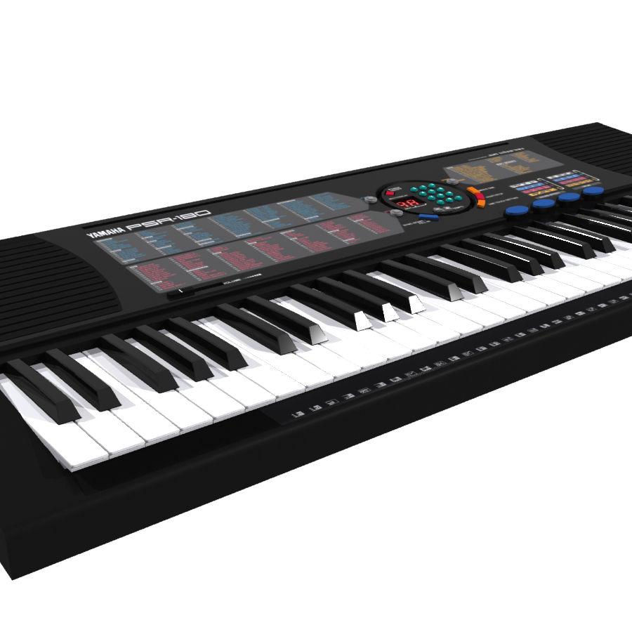 Keyboard: Yamaha PSR-180 royalty-free 3d model - Preview no. 4