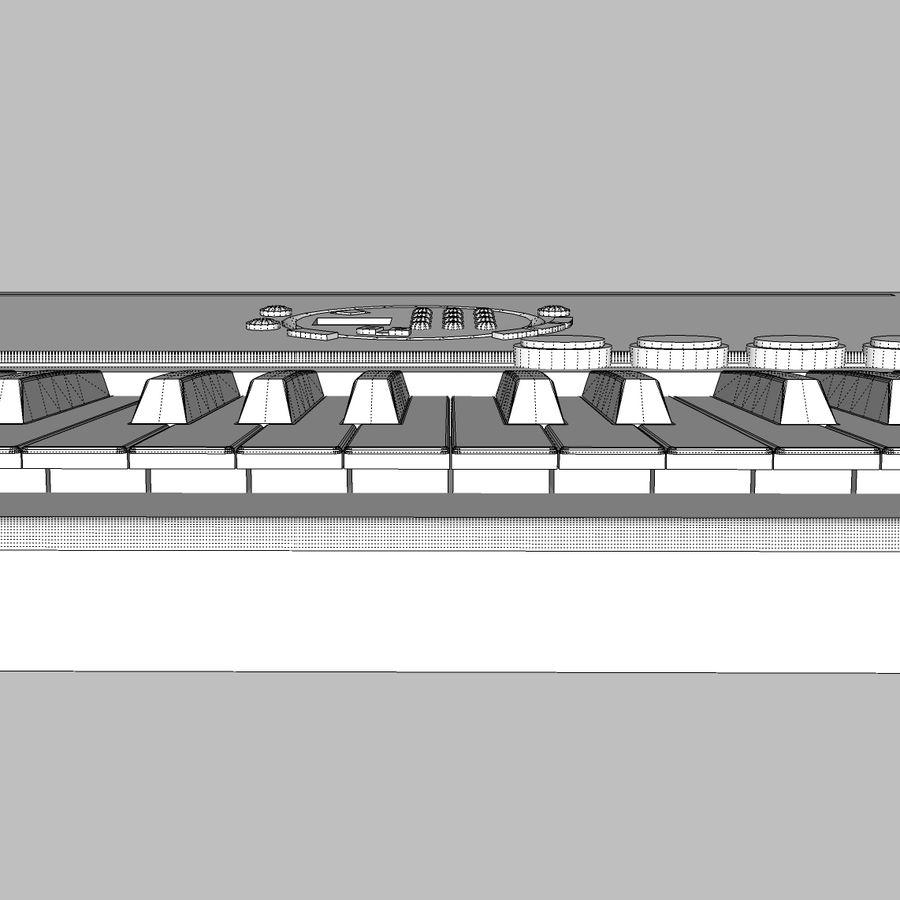 Keyboard: Yamaha PSR-180 royalty-free 3d model - Preview no. 22