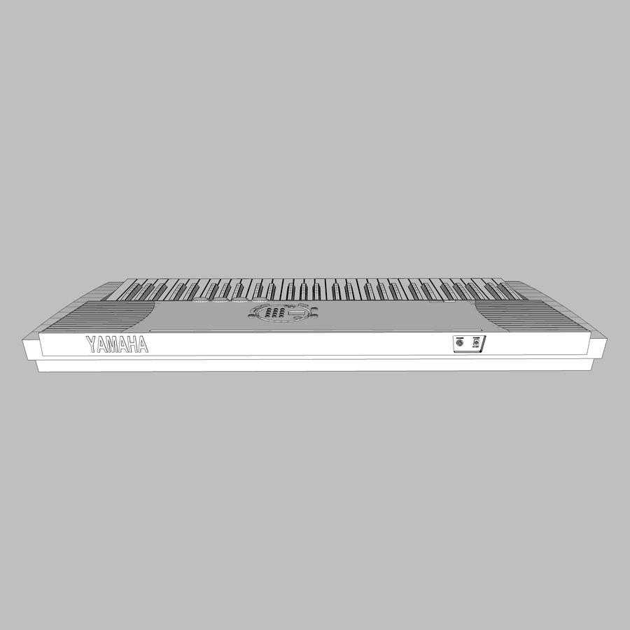 Keyboard: Yamaha PSR-180 royalty-free 3d model - Preview no. 19