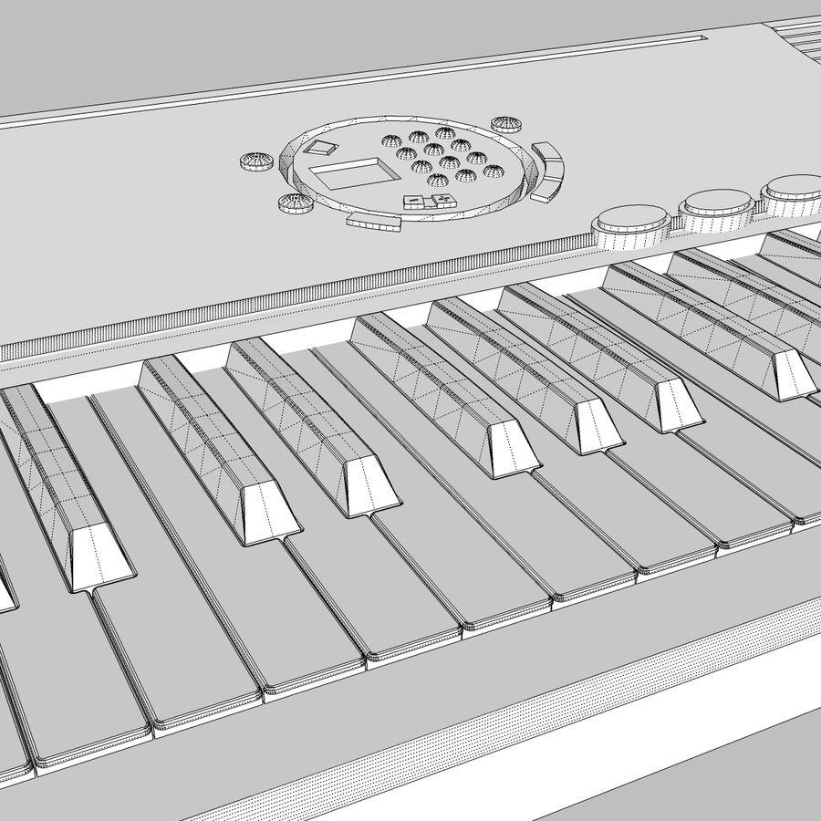 Keyboard: Yamaha PSR-180 royalty-free 3d model - Preview no. 23