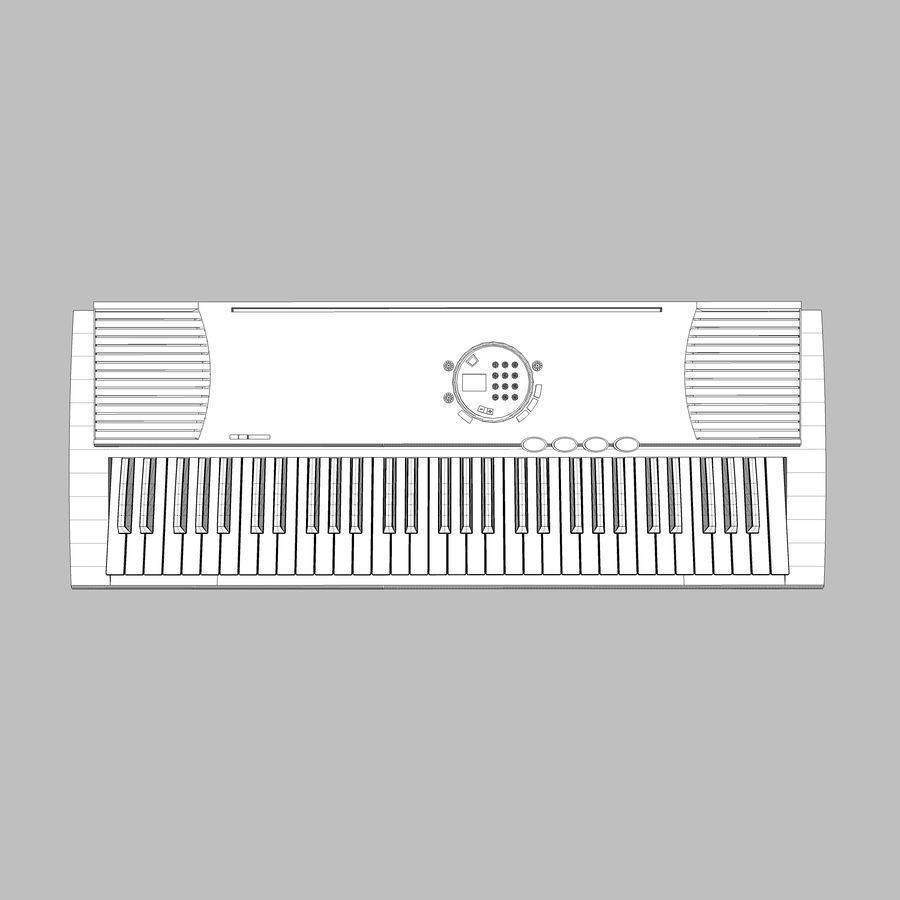 Keyboard: Yamaha PSR-180 royalty-free 3d model - Preview no. 13