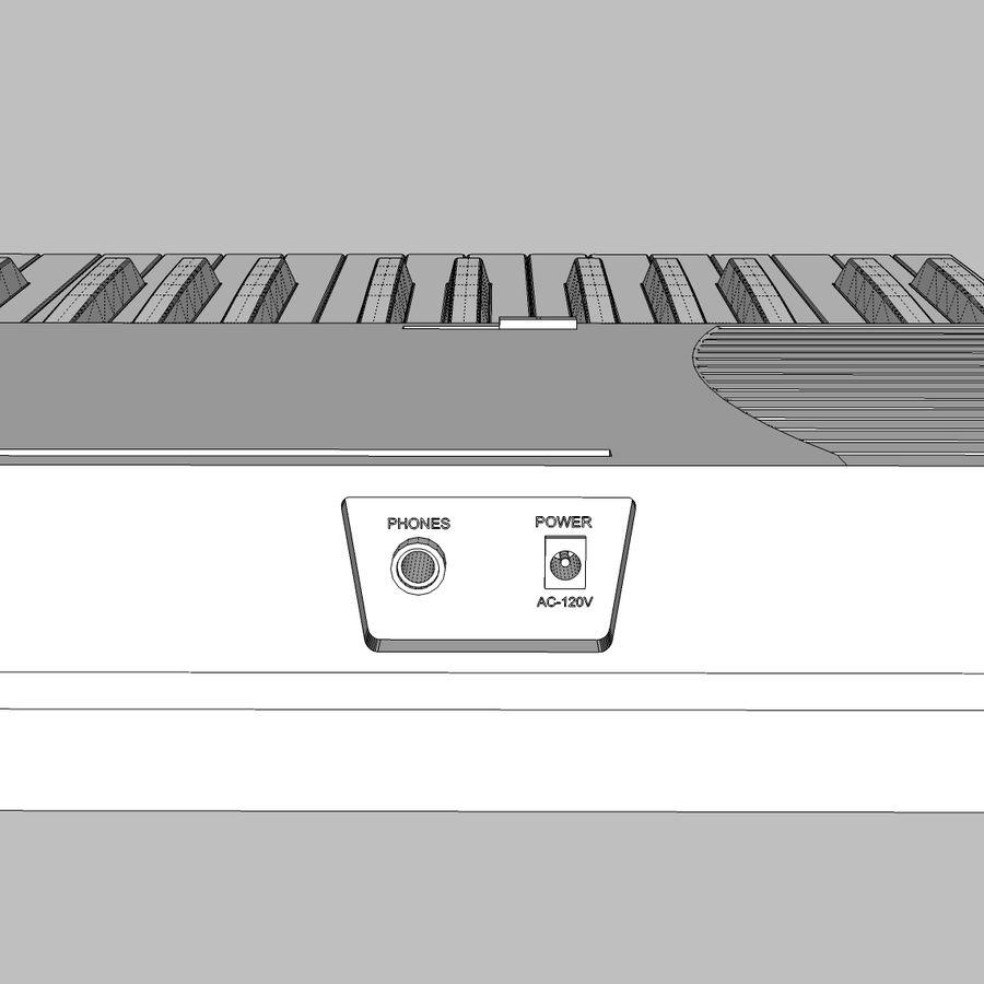 Keyboard: Yamaha PSR-180 royalty-free 3d model - Preview no. 20