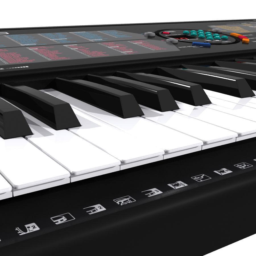 Keyboard: Yamaha PSR-180 royalty-free 3d model - Preview no. 12