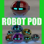 Red Robot Pod V2 3d model