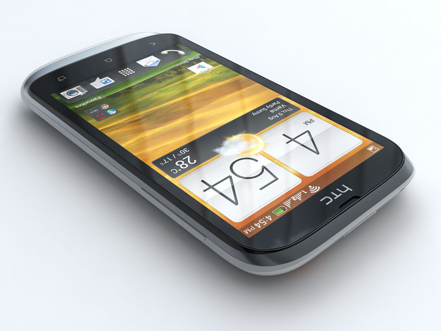 HTC Desire V royalty-free 3d model - Preview no. 3
