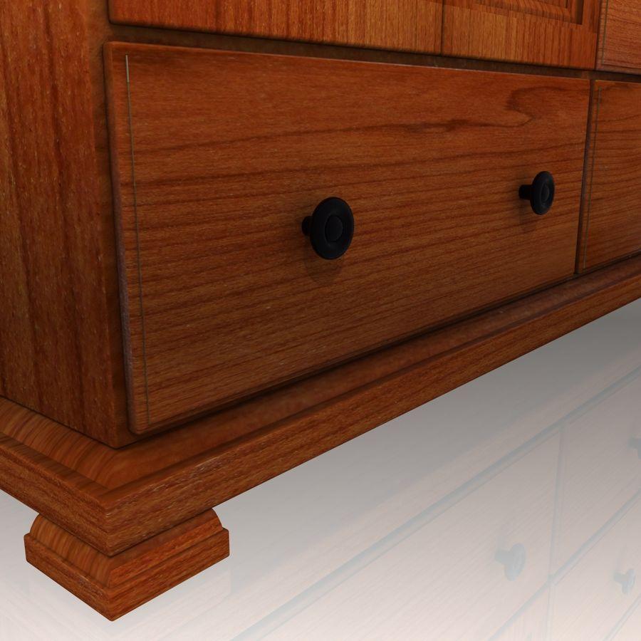 Bedroom Furniture Set royalty-free 3d model - Preview no. 7