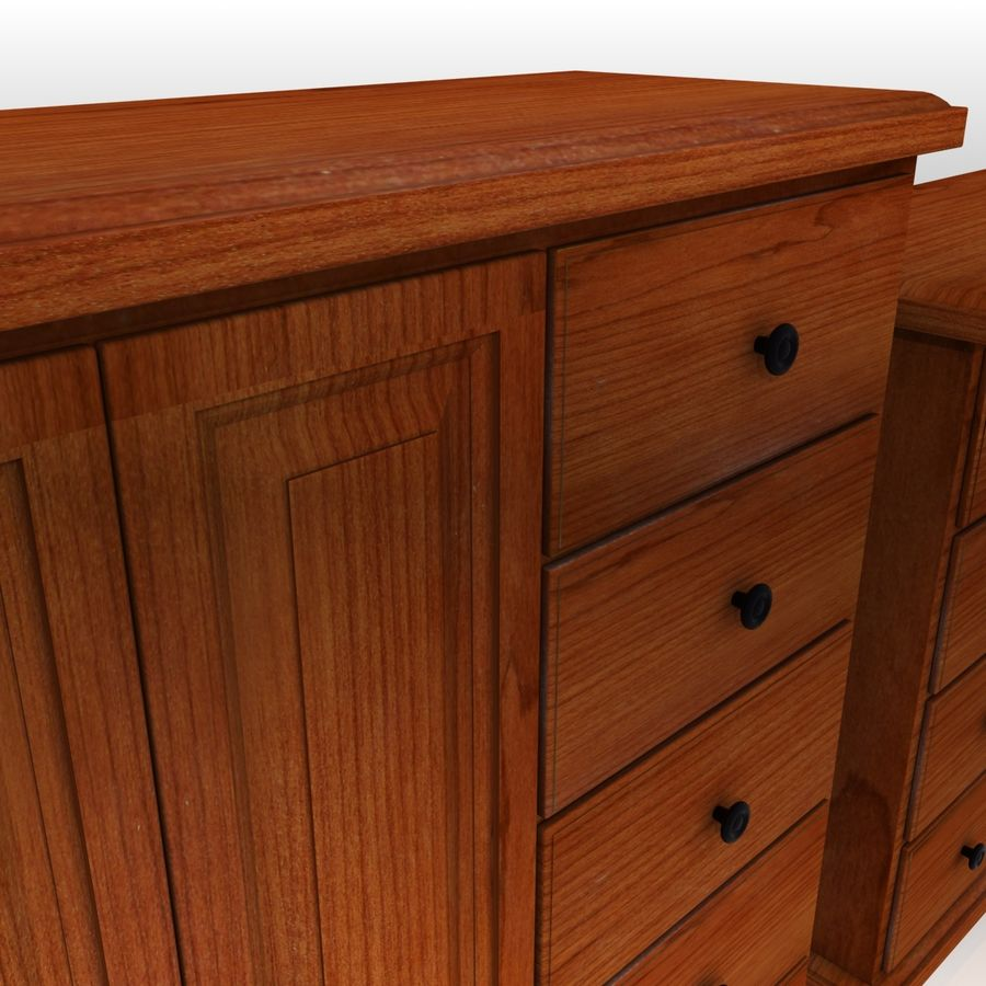 Bedroom Furniture Set royalty-free 3d model - Preview no. 9