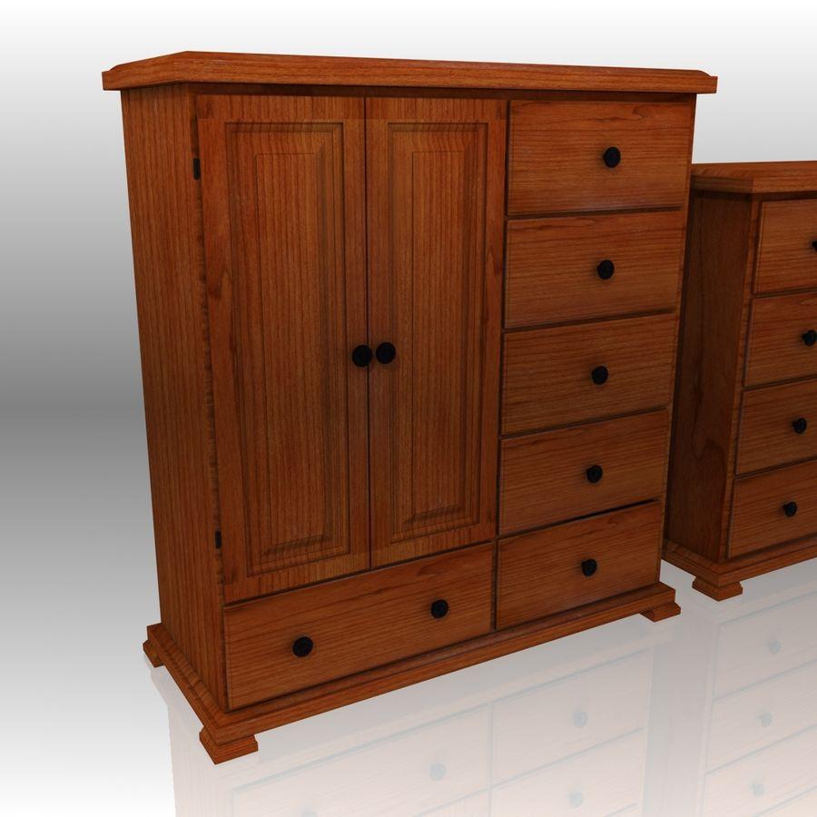 Bedroom Furniture Set royalty-free 3d model - Preview no. 4