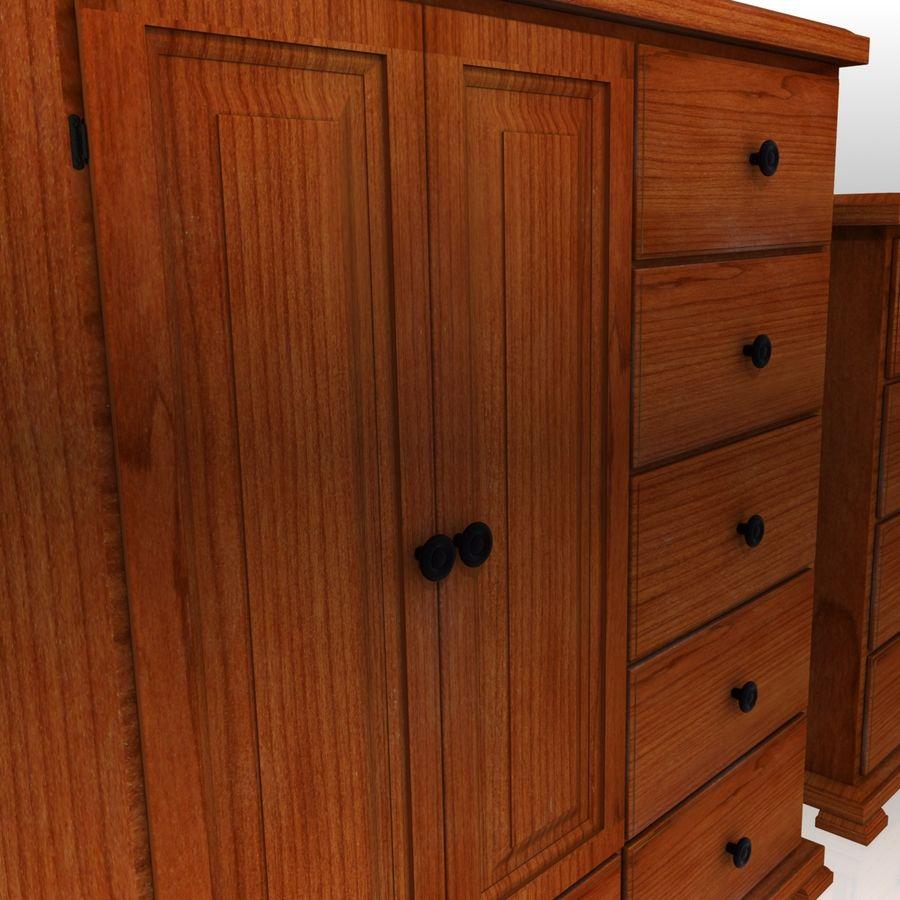 Bedroom Furniture Set royalty-free 3d model - Preview no. 6