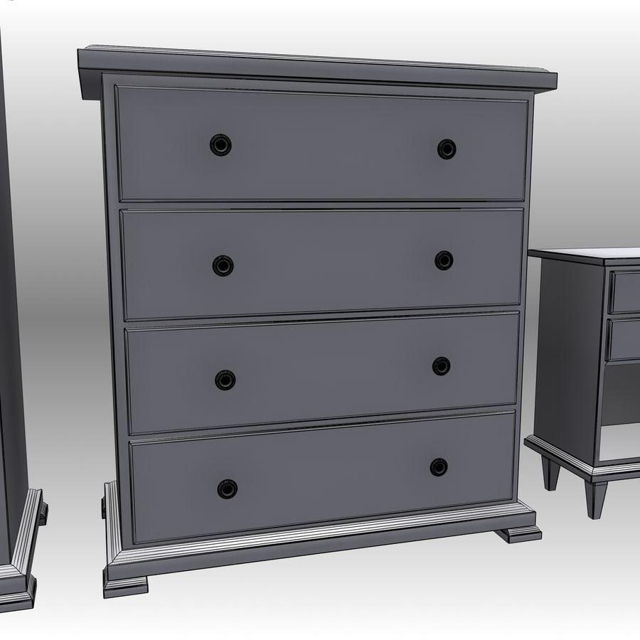 Bedroom Furniture Set royalty-free 3d model - Preview no. 19