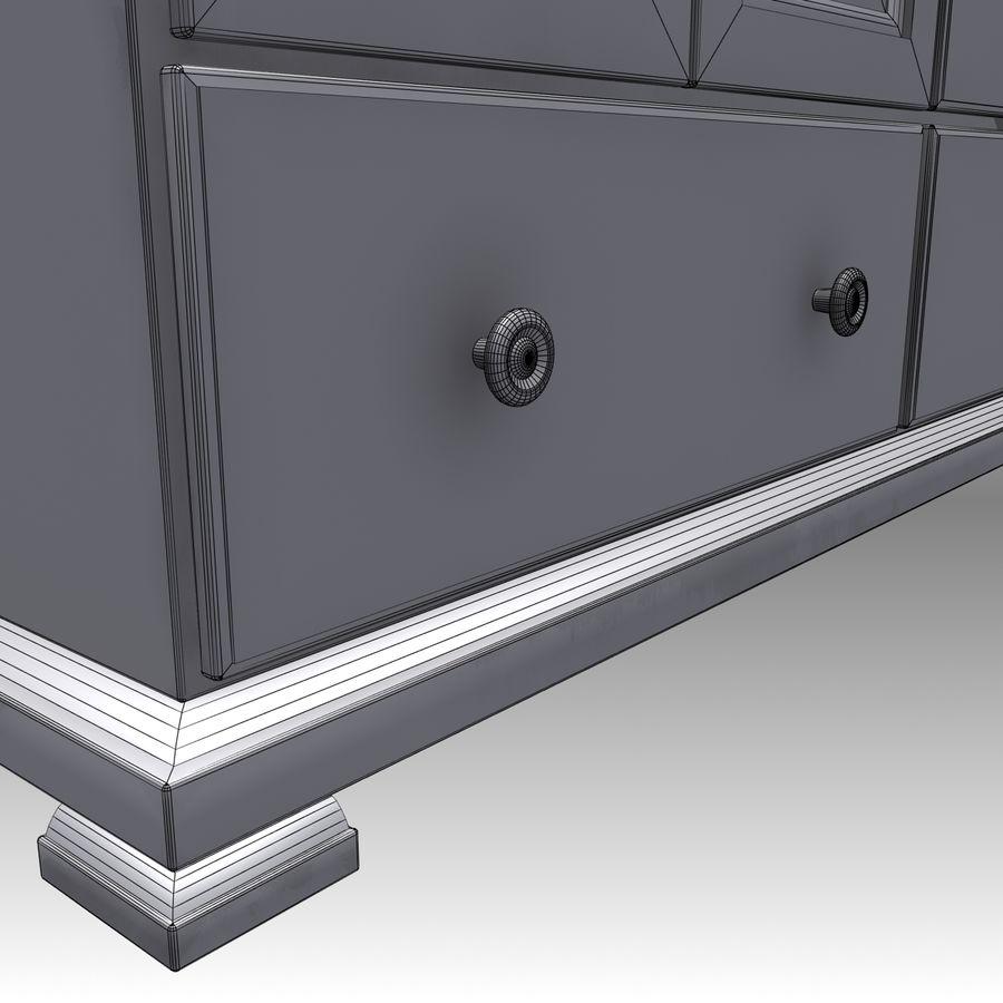 Bedroom Furniture Set royalty-free 3d model - Preview no. 16