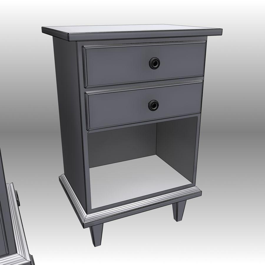 Bedroom Furniture Set royalty-free 3d model - Preview no. 20
