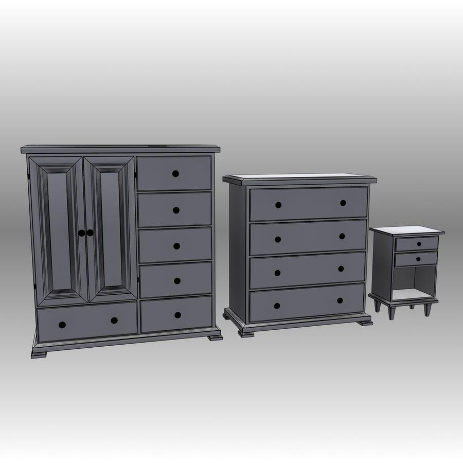 Bedroom Furniture Set royalty-free 3d model - Preview no. 13
