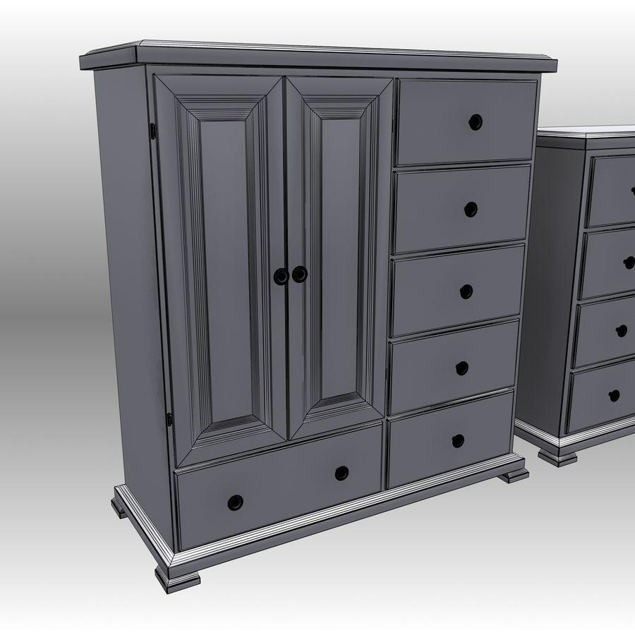 Bedroom Furniture Set royalty-free 3d model - Preview no. 14