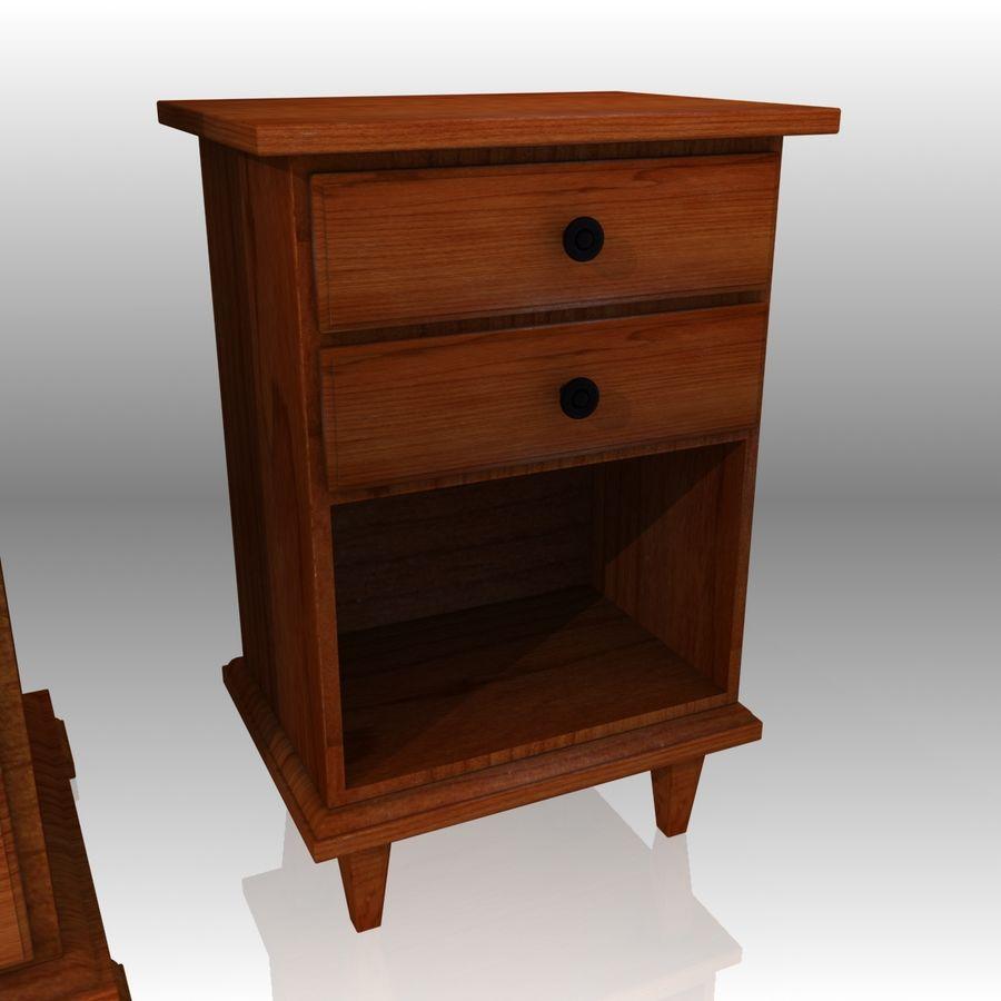 Bedroom Furniture Set royalty-free 3d model - Preview no. 11