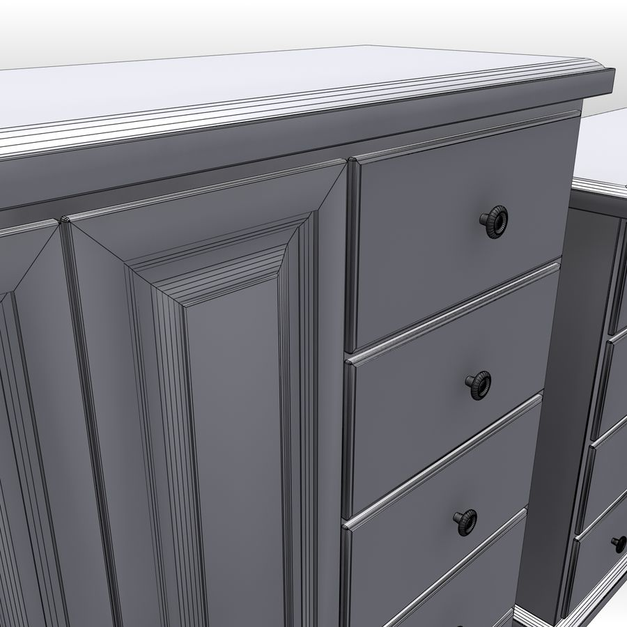 Bedroom Furniture Set royalty-free 3d model - Preview no. 18
