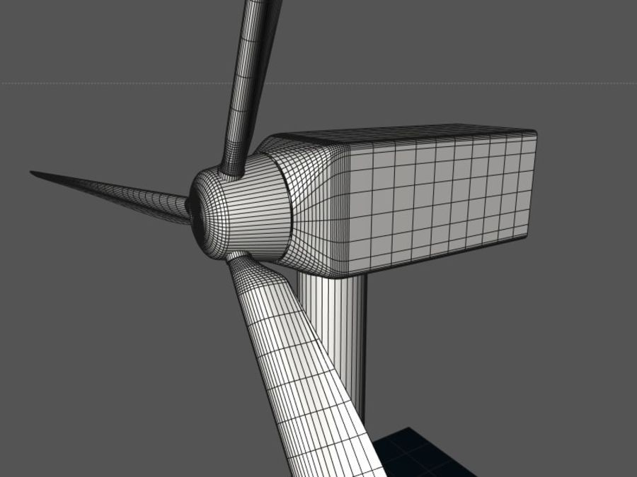 Wind power plant royalty-free 3d model - Preview no. 5