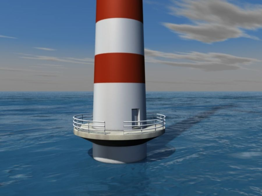 Wind power plant royalty-free 3d model - Preview no. 3