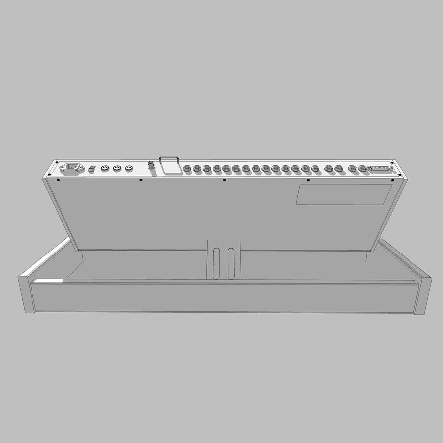 Keyboard / Synthesizer: Moog Voyager: Wood Finish royalty-free 3d model - Preview no. 20