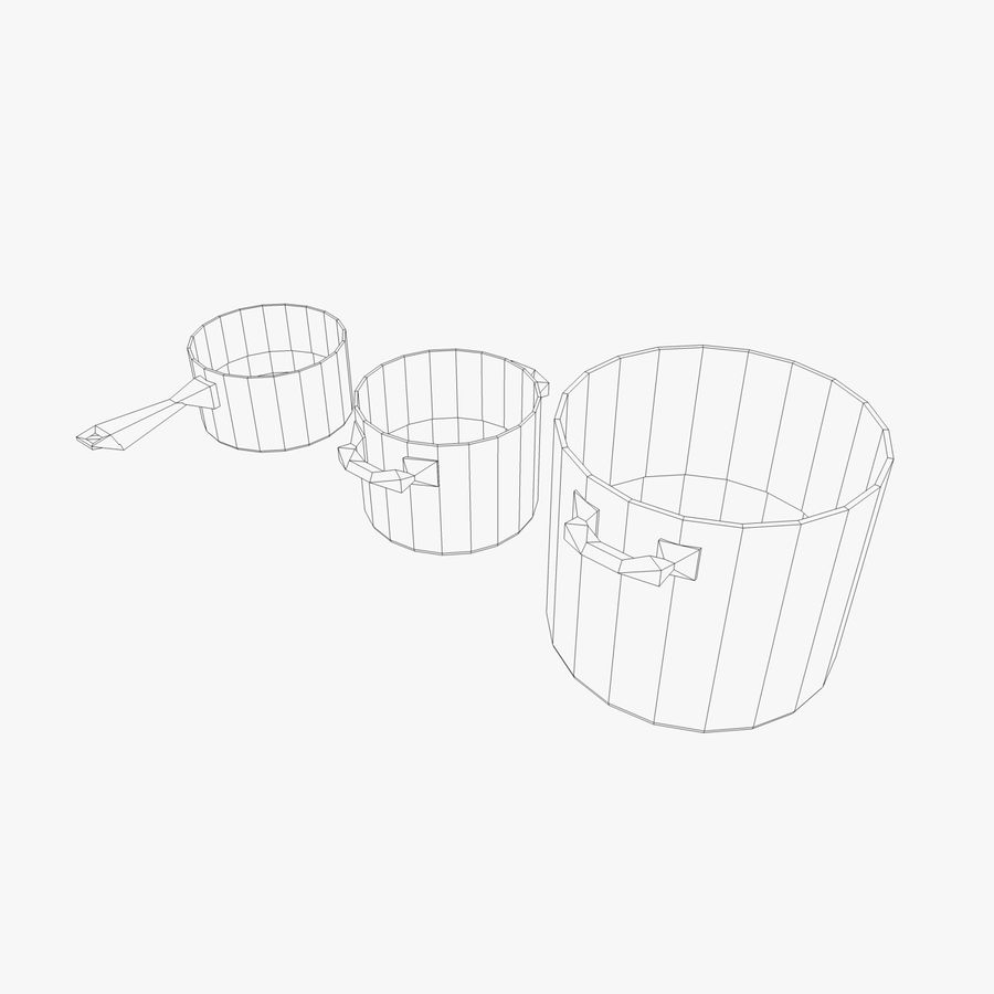 Pots and Pans royalty-free 3d model - Preview no. 2