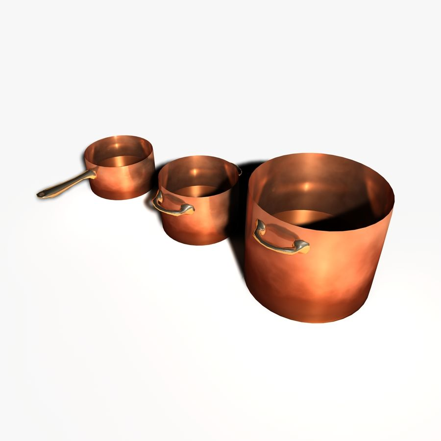 Pots and Pans royalty-free 3d model - Preview no. 1