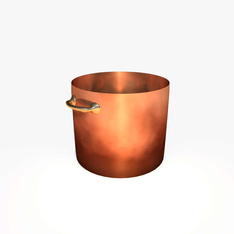 Pots and Pans royalty-free 3d model - Preview no. 3