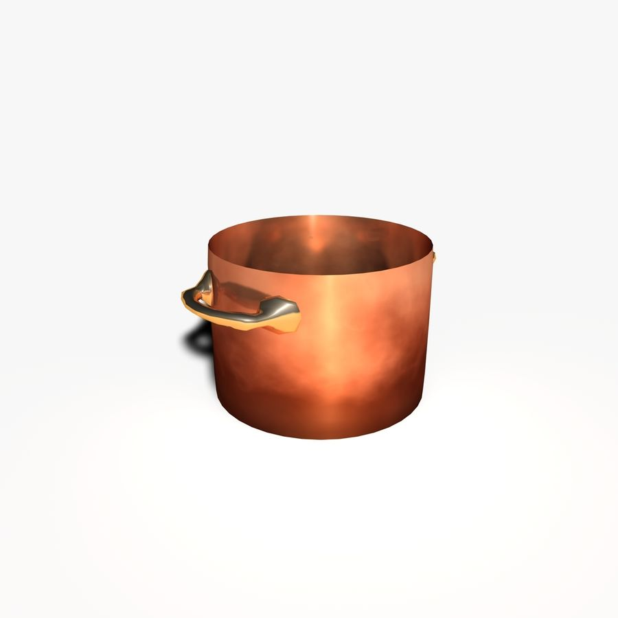 Pots and Pans royalty-free 3d model - Preview no. 7
