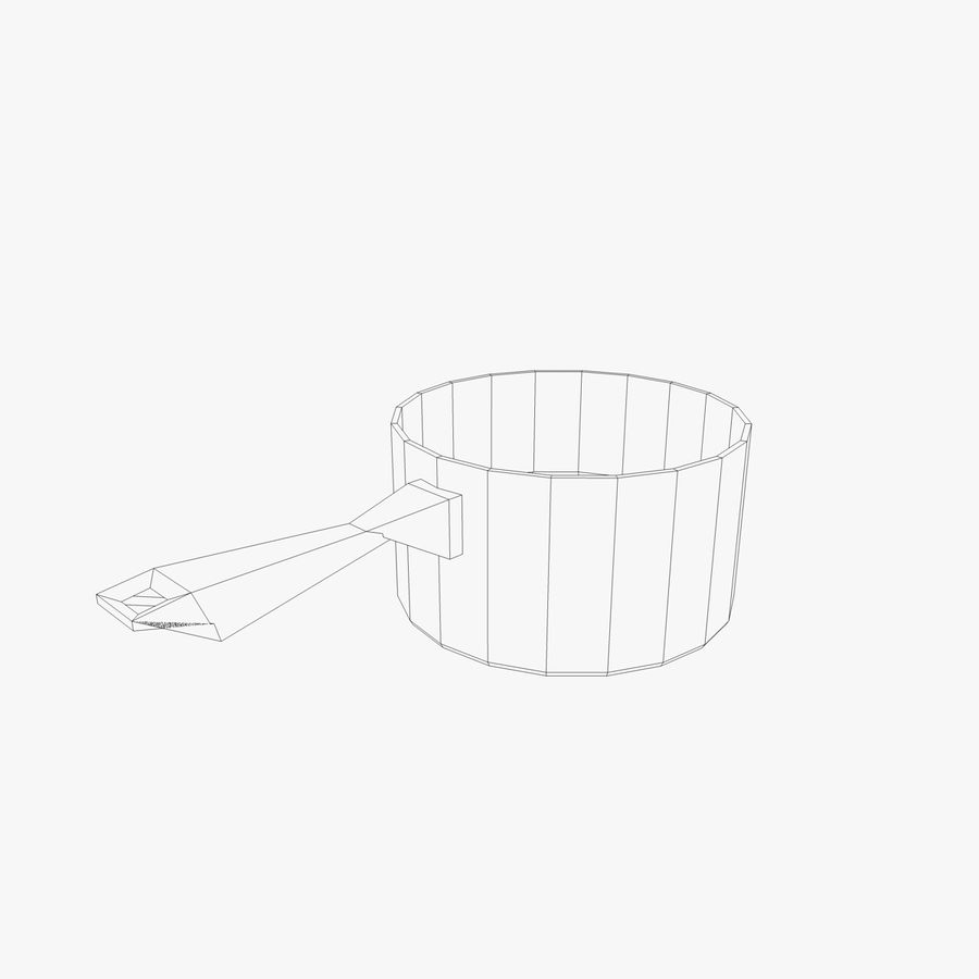 Pots and Pans royalty-free 3d model - Preview no. 6