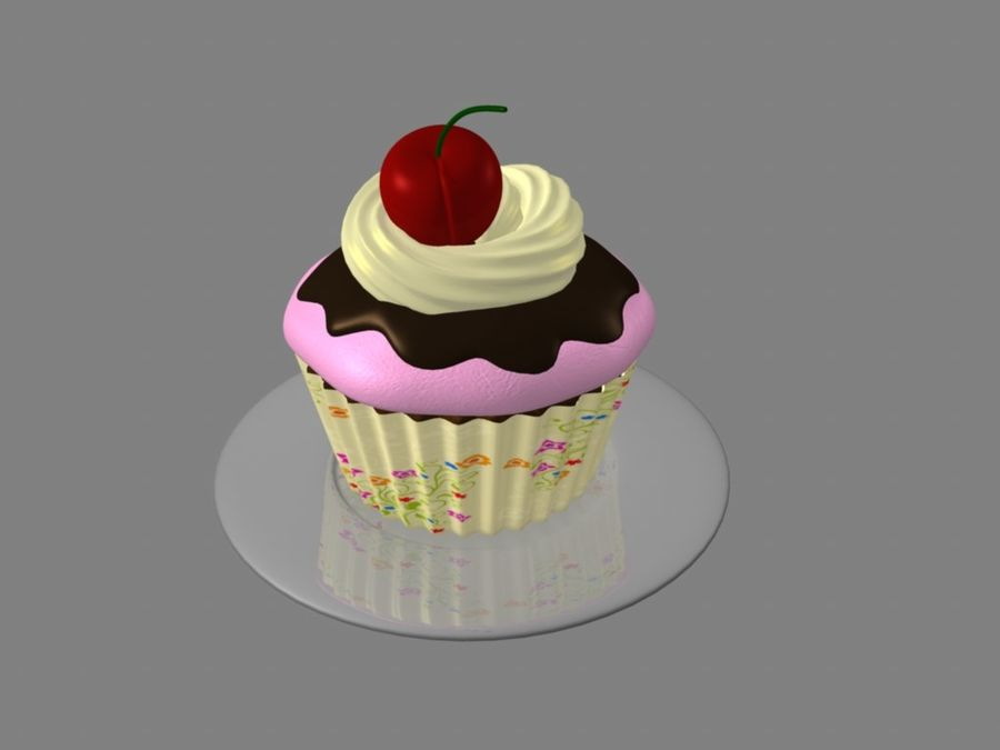 Bolinho royalty-free 3d model - Preview no. 7