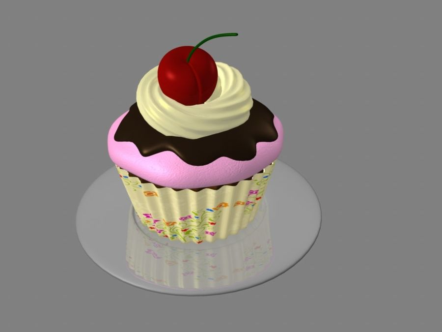 Bolinho royalty-free 3d model - Preview no. 1