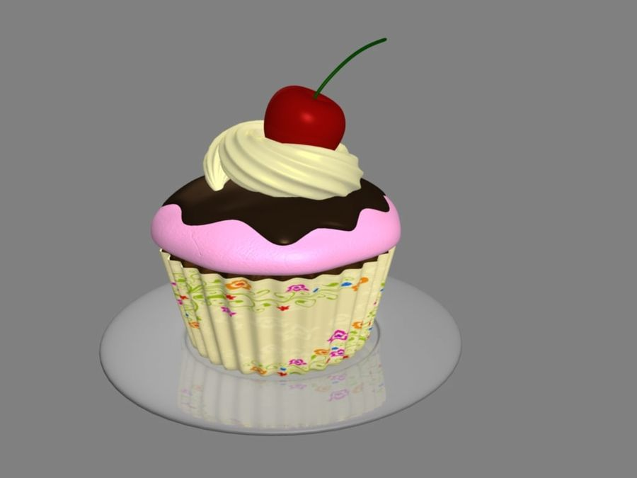 Bolinho royalty-free 3d model - Preview no. 4