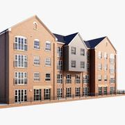 New Generic Brick Building 3d model