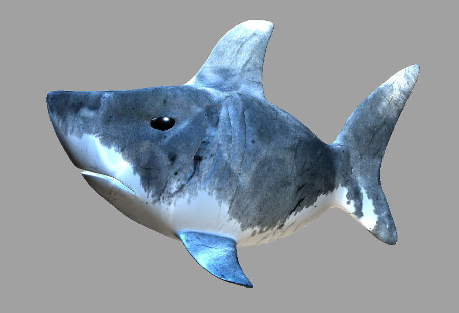 Dessin animé requin royalty-free 3d model - Preview no. 1