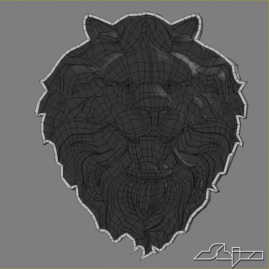 Lion Head Sculpture 2 royalty-free 3d model - Preview no. 11