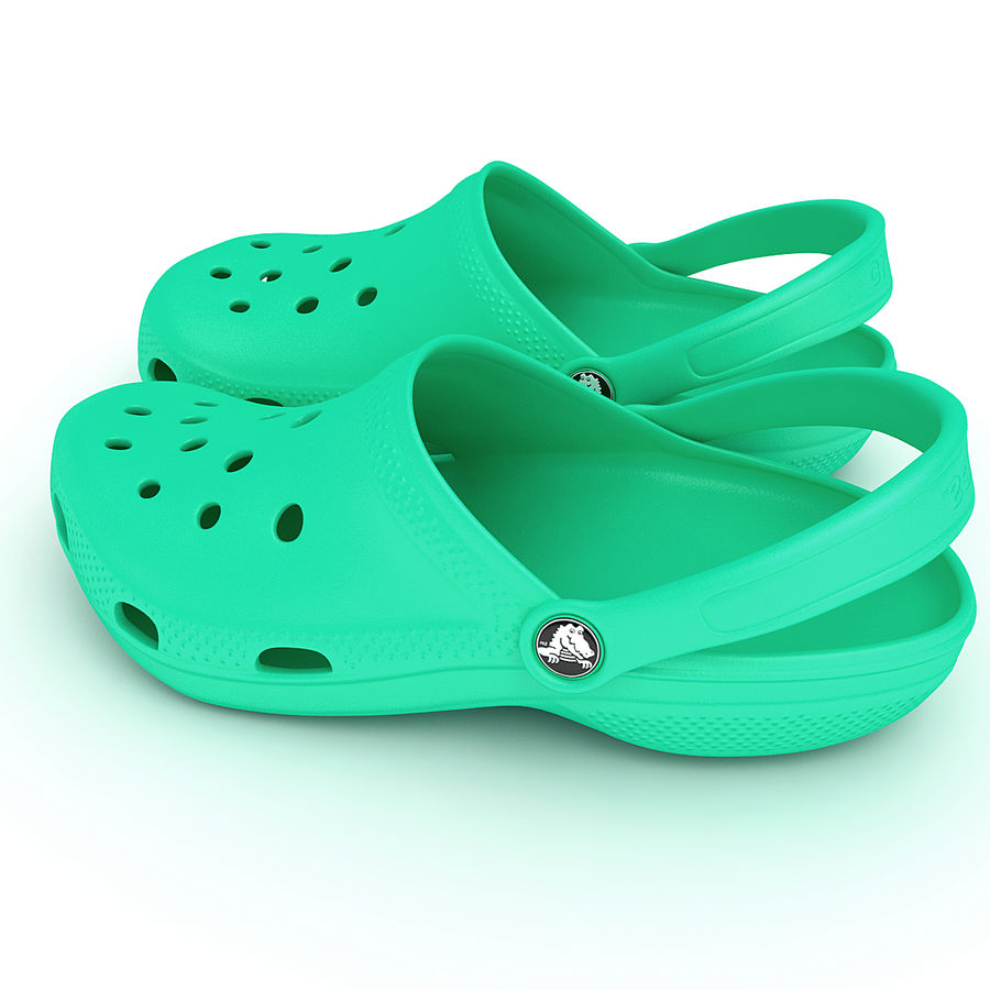 Crocs Shoes, Sandals, & Clogs in Pink, Green, Lime, Blue Collection royalty-free 3d model - Preview no. 25