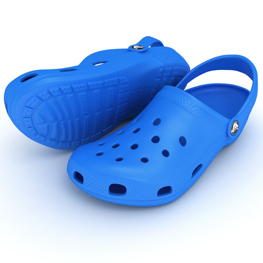Crocs Shoes, Sandals, & Clogs in Pink, Green, Lime, Blue Collection royalty-free 3d model - Preview no. 17
