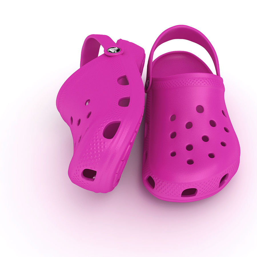 Crocs Shoes, Sandals, & Clogs in Pink, Green, Lime, Blue Collection royalty-free 3d model - Preview no. 12