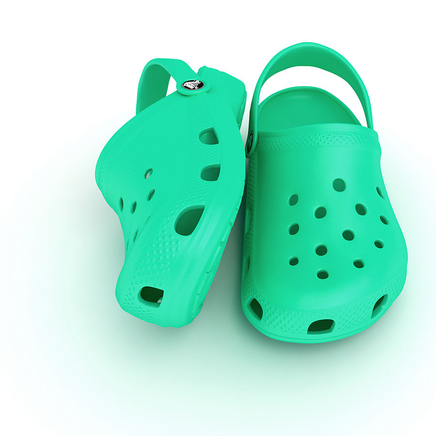 Crocs Shoes, Sandals, & Clogs in Pink, Green, Lime, Blue Collection royalty-free 3d model - Preview no. 22
