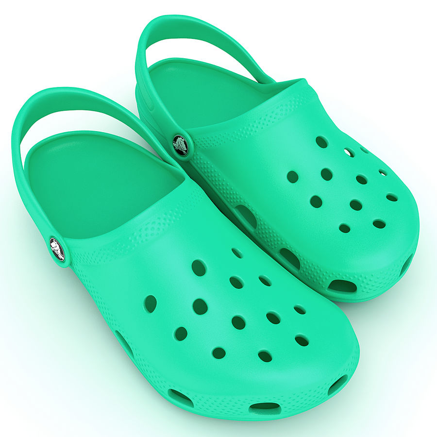Crocs Shoes, Sandals, & Clogs in Pink, Green, Lime, Blue Collection royalty-free 3d model - Preview no. 24