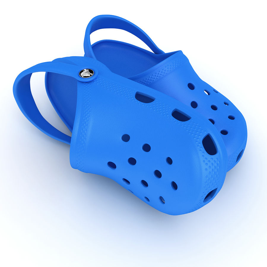 Crocs Shoes, Sandals, & Clogs in Pink, Green, Lime, Blue Collection royalty-free 3d model - Preview no. 16