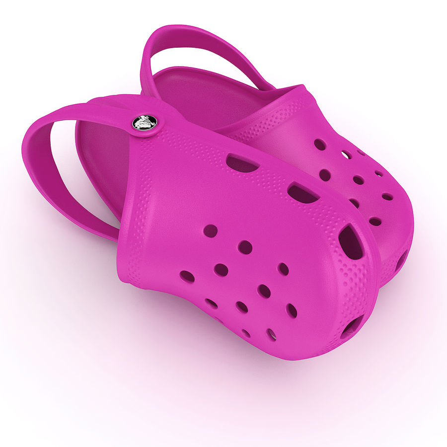 Crocs Shoes, Sandals, & Clogs in Pink, Green, Lime, Blue Collection royalty-free 3d model - Preview no. 6