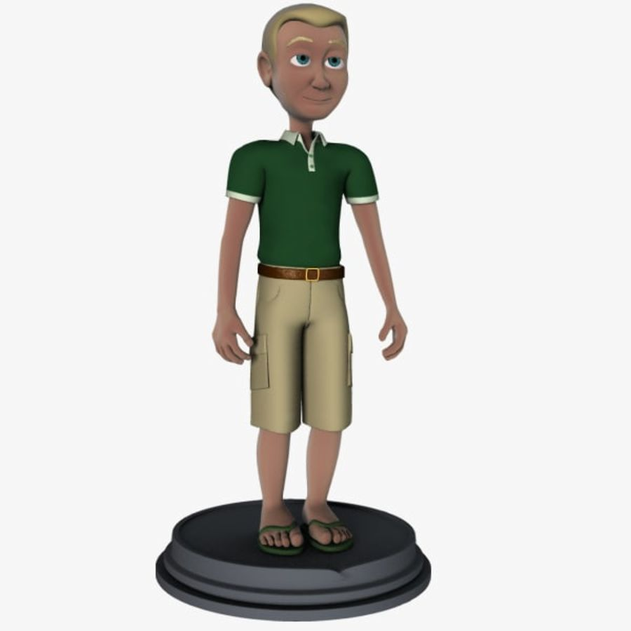 Personaggio maschile royalty-free 3d model - Preview no. 1
