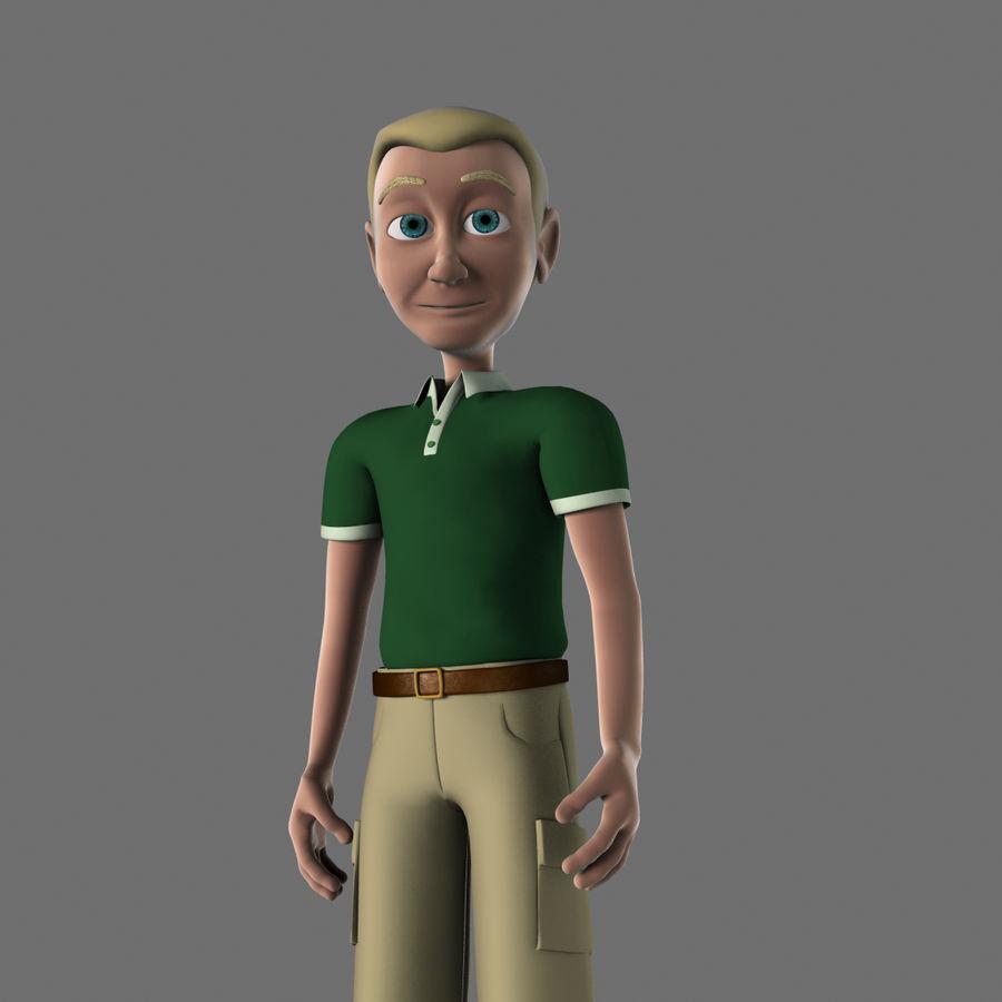 Personaggio maschile royalty-free 3d model - Preview no. 3