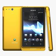 Sony Xperia Go Yellow 3d model