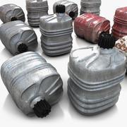 Metallic Canister Barrel 2 3d model