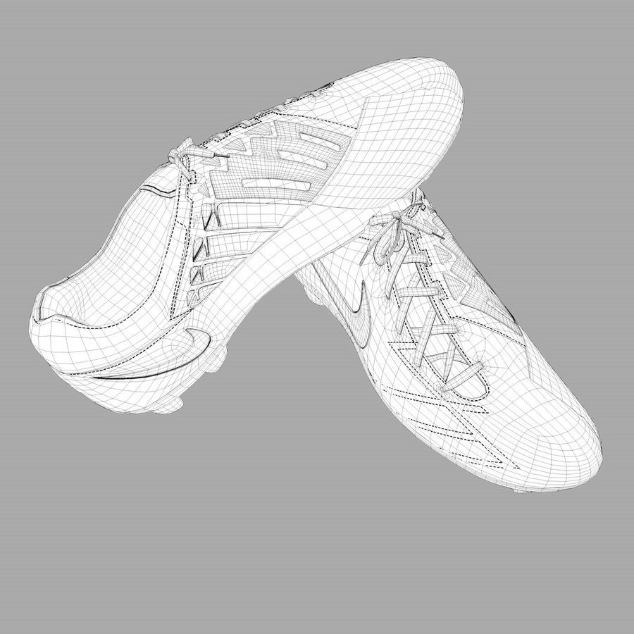 Nike T90 royalty-free 3d model - Preview no. 7