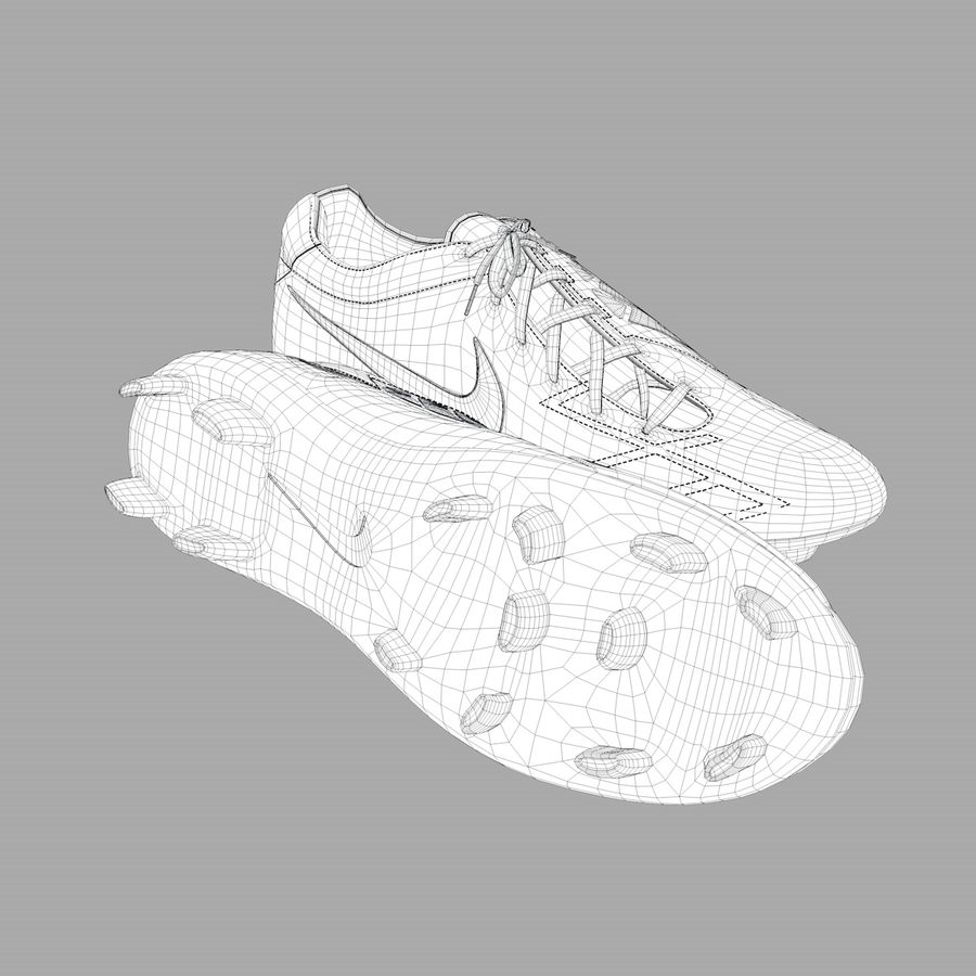 Nike T90 royalty-free 3d model - Preview no. 6